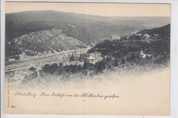 AK Heidelberg, Schloss von der Molkenuhr gesehen 1900 - Karnabrunn, Österreich - Rücknahmen akzeptiert - Karnabrunn, Österreich