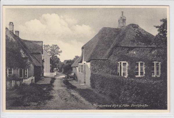 AK Wyk auf Föhr, Dorfstraße, 1940 - Karnabrunn, Österreich - Rücknahmen akzeptiert - Karnabrunn, Österreich