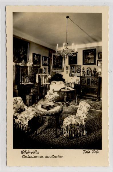 AK Bad Ischl, Lehar-Villa, Lehars Sterbezimmer, 1955 - <span itemprop=availableAtOrFrom>Karnabrunn, Österreich</span> - Rücknahmen akzeptiert - Karnabrunn, Österreich