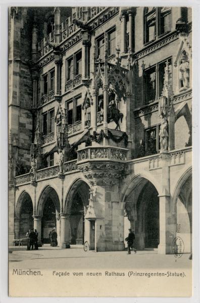 AK München, Neues Rathaus, Facade, 1905 - <span itemprop=availableAtOrFrom>Karnabrunn, Österreich</span> - Rücknahmen akzeptiert - Karnabrunn, Österreich