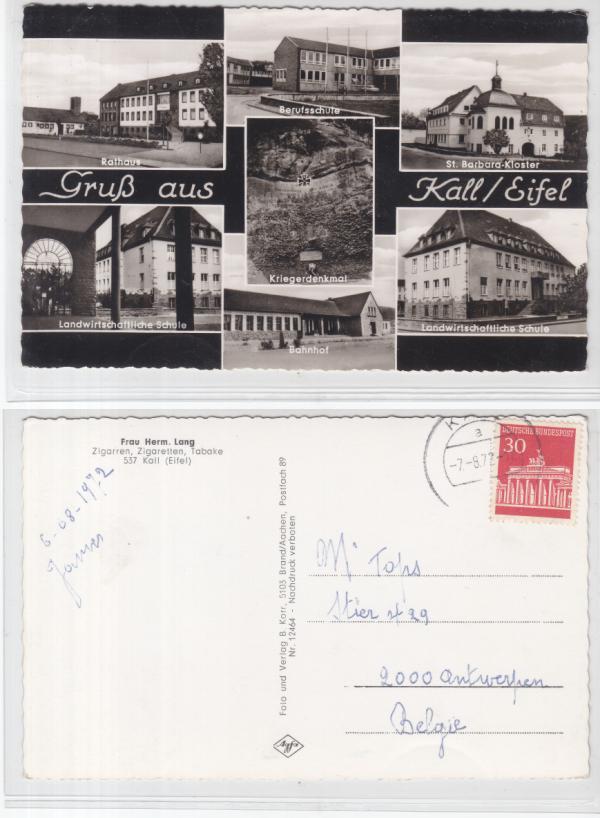 ak kall eifel berufschule landw schule bahnhof 1972 ebay. Black Bedroom Furniture Sets. Home Design Ideas