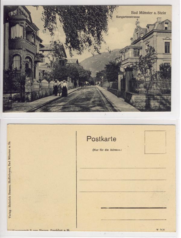 ak bad m nster am stein kurgartenstrasse 1905 ebay. Black Bedroom Furniture Sets. Home Design Ideas